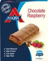 Atkins Chocolate Raspberry - 30 gram - 5 stuks - maaltijdreep