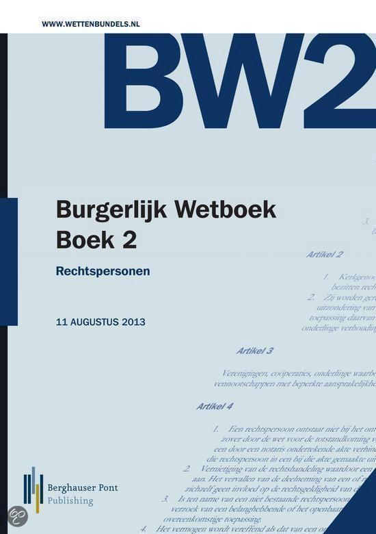 Burgerlijk Wetboek Boek 2 - Onbekend   Fthsonline.com