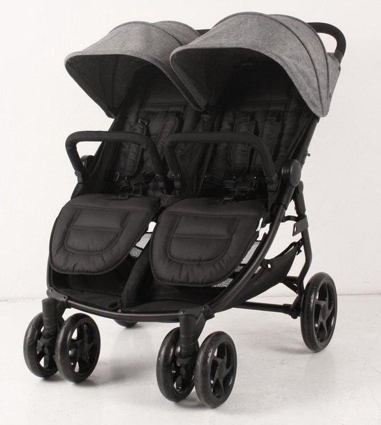 KEKK Xinn Tweelingkinderwagen - Grijs