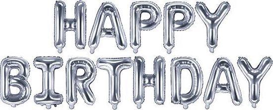 Folie Happy Birthday Zilver