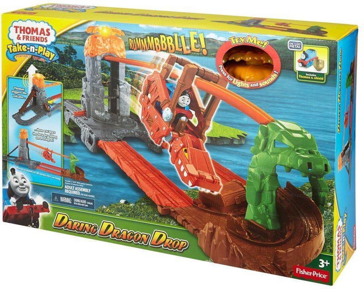Thomas de Trein Take-N-Play - Drakeneiland Kabelbaan - Treinbaan