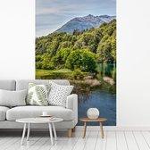 Fotobehang vinyl - Manso Superior Rivier in het nationale park Nahuel Huapi in Argentinië breedte 235 cm x hoogte 360 cm - Foto print op behang (in 7 formaten beschikbaar)