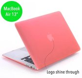 Lunso - hardcase hoes - MacBook Air 13 inch (2010-2017) - mat lichtroze