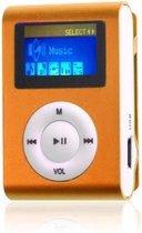 Mini clip MP3 speler FM radio met display Oranje e