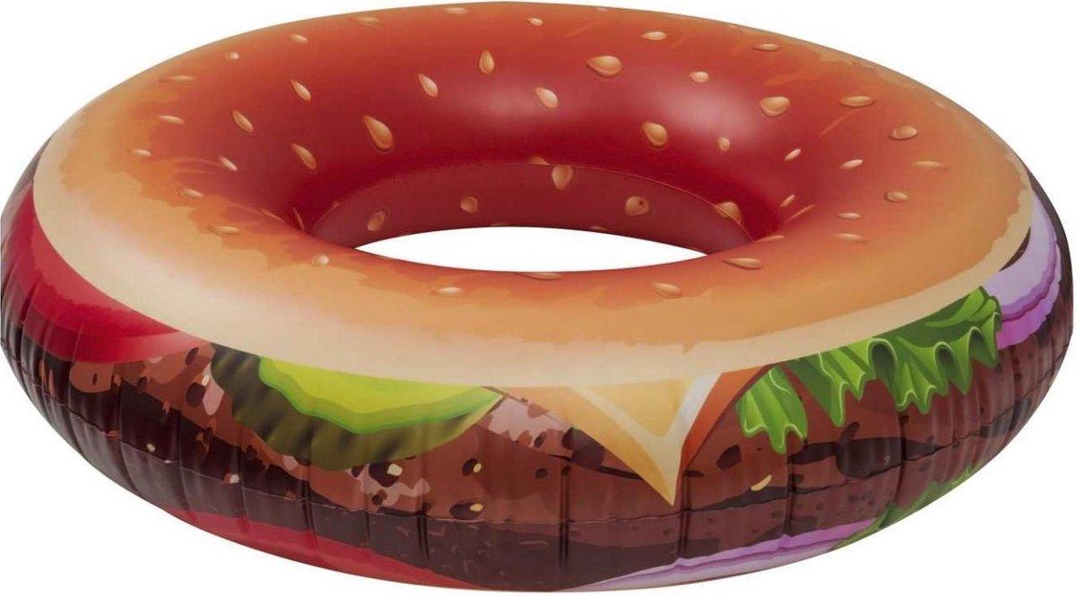 Enjoy Summer Opblaasbare Zwemband Hamburger 118 Cm Bruin