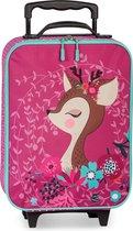 Bambi meisjes trolley reiskoffertje 40 cm 2 w
