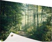 Een dichtbegroeid bos Tuinposter 120x80 cm - Tuindoek / Buitencanvas / Schilderijen voor buiten (tuin decoratie)