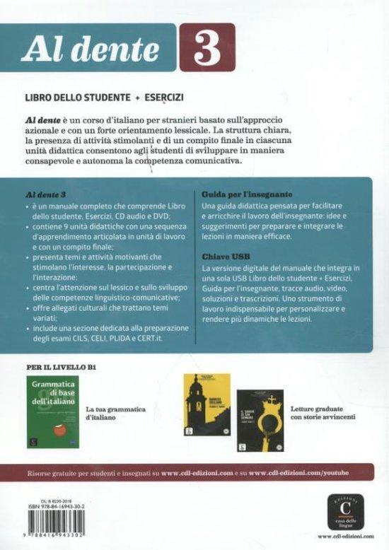 Al Dente 3 Libro dello studente + esercizi + CD + DVD