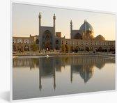 Foto in lijst - Mooie duidelijke foto van de Meidan Emam in Iran fotolijst wit 40x30 cm - Poster in lijst (Wanddecoratie woonkamer / slaapkamer)
