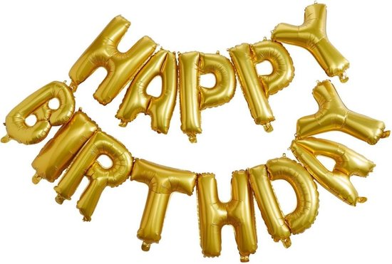 Folie helium ballon Happy Birthday 35cm