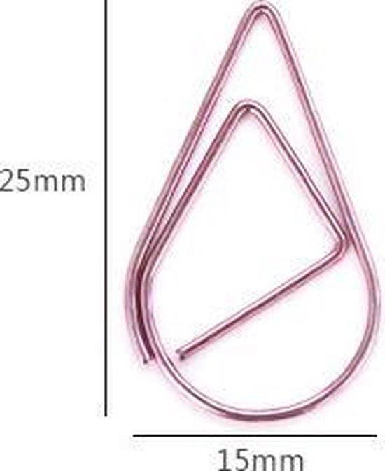 Paperclips Druppel Koperkleurig -2,5 cm - 50 stuks