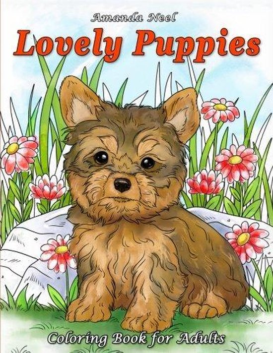 Afbeelding van Lovely Puppies Coloring Book for Adults - Amanda Neel