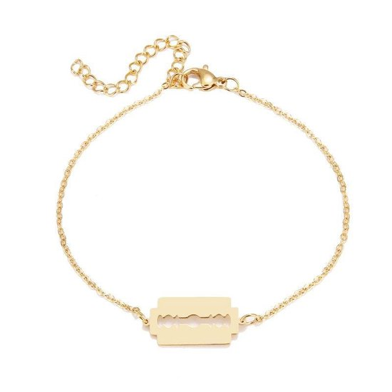 RVS scheermes armband 17-20 cm | goudkleur | bff