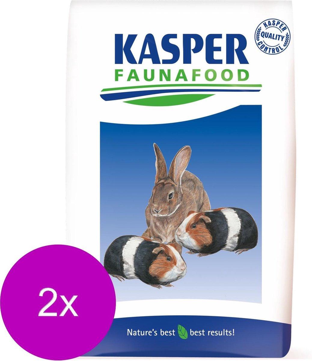 Kasper Faunafood Gemengd Konijnenvoer - Konijnenvoer - 2 x 20 kg