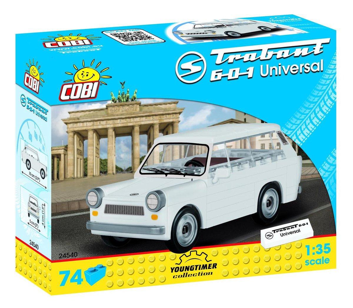Cobi Youngtimer Bouwpakket Trabant 1:35 Wit 74 -delig 24540