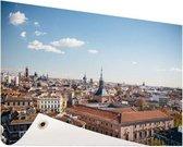 Het centrum van Madrid Tuinposter 200x100 cm - Tuindoek / Buitencanvas / Schilderijen voor buiten (tuin decoratie) XXL / Groot formaat!