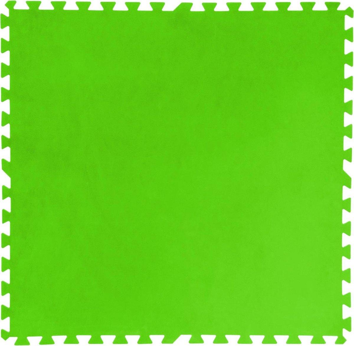 Bestway Zwembad bodembeschermers 8 stuks 81x81 cm groen 58265