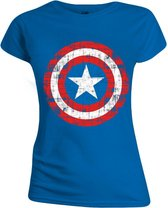 C. America Cracked Girl T-Shirt S