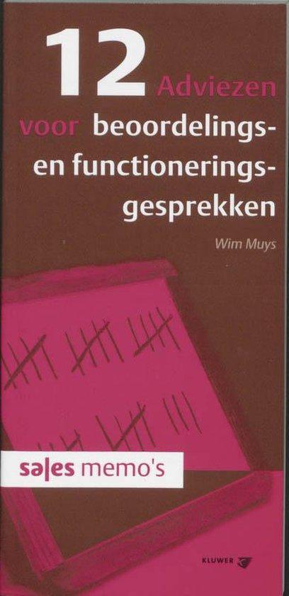 Cover van het boek '12 adviezen voor beoordelings- en functioneringsgesprekken / druk 1' van Wim Muys