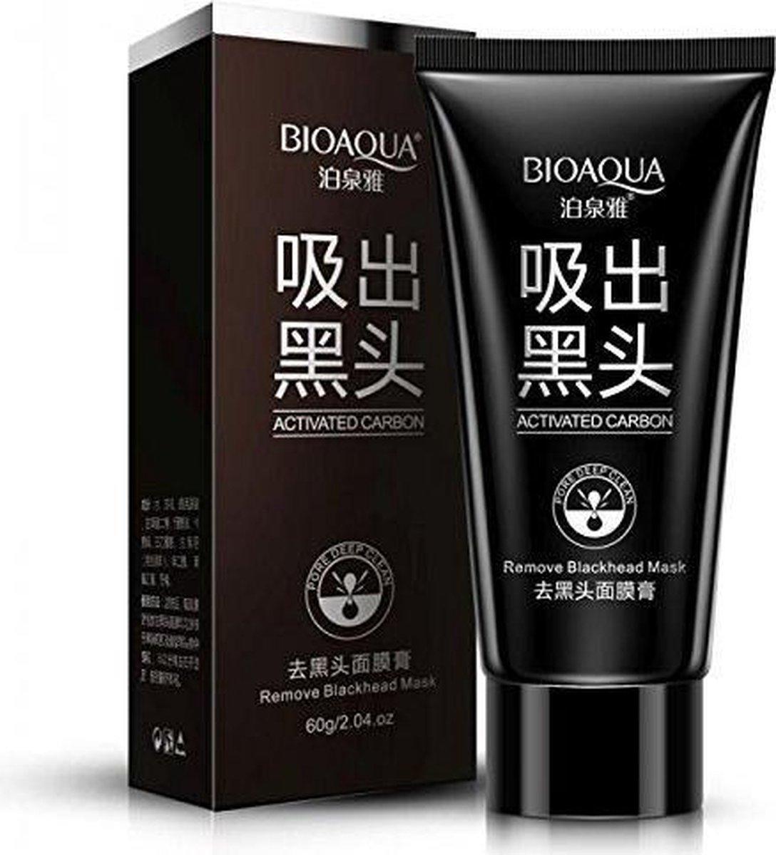 BIOAQUA Blackhead Remover Mask,Nose Acne Blackhead Remover Mask,Peel Off Mask, Charcoal Mask,(2.11 oz) - Merkloos