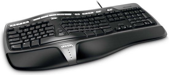 Microsoft Natural Ergo 4000 - Toetsenbord - Qwerty - Zwart - Microsoft