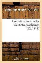 Consid rations Sur Les lections Prochaines