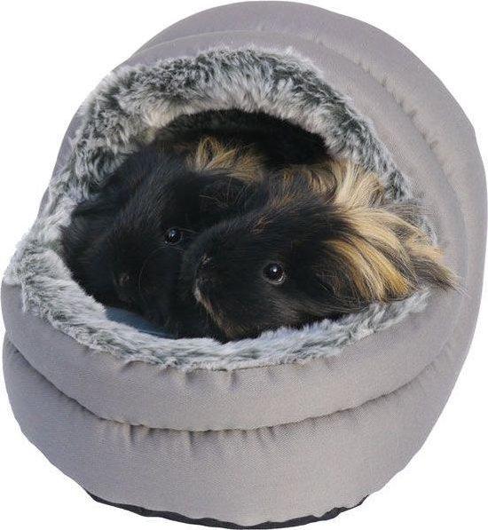 Snuggles Tweezijdig Bed - Knaagdier - Grijs - 24 x 23 x 21 cm