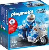 PLAYMOBIL City Action Politiemotor met led-licht - 6923