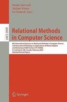 Relational Methods in Computer Science: 8th International Seminar on Relational Methods in Computer Science, 3rd International Workshop on Applications of Kleene Algebra, Workshop of COST Action 274
