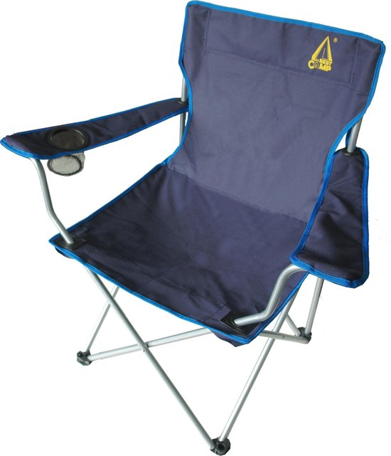 Best Camp Koala - Campingstoel - Hoge Rugleuning - Blauw