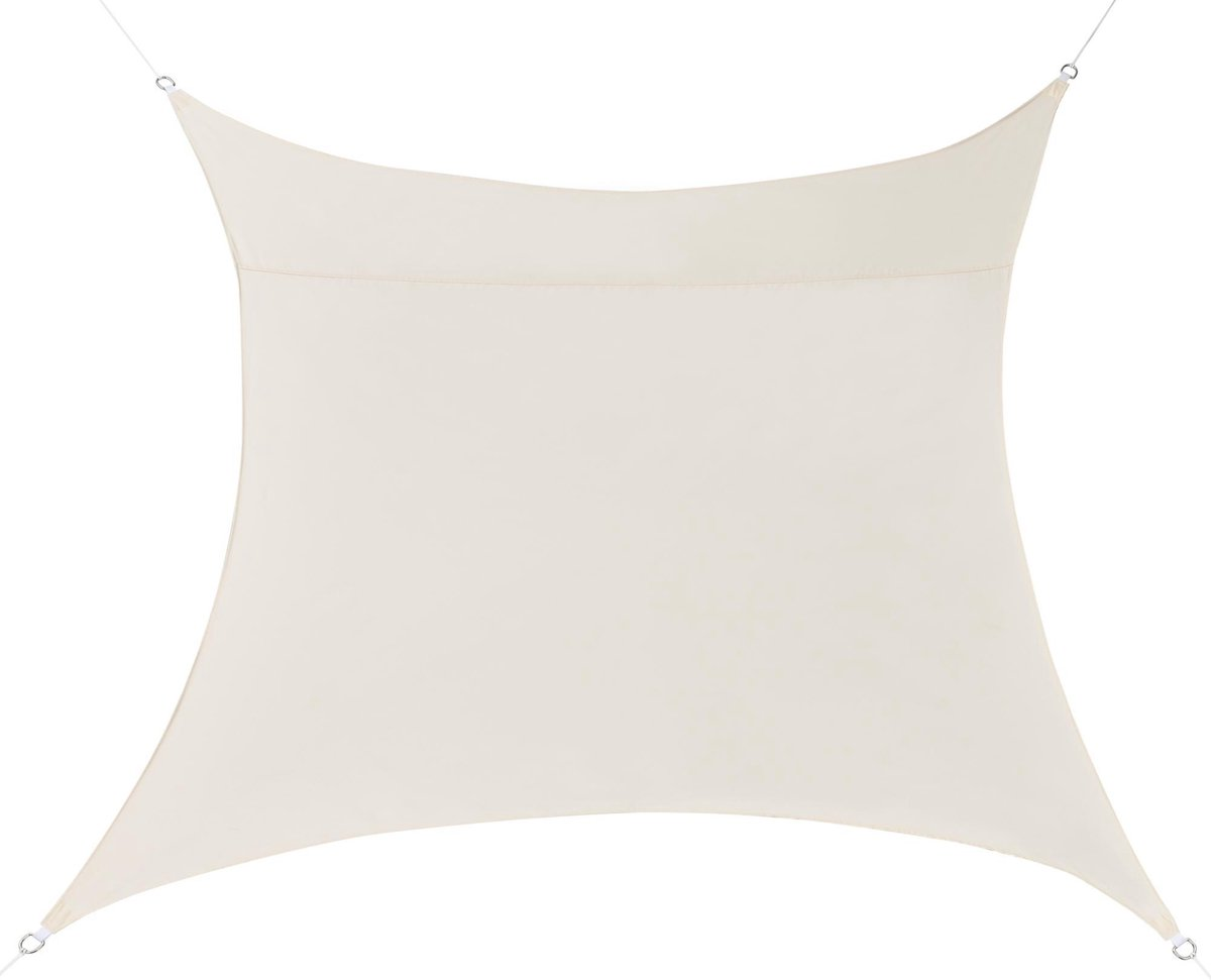 Schaduwdoek - waterafstotend vierkant 2x2 m zandkleurig