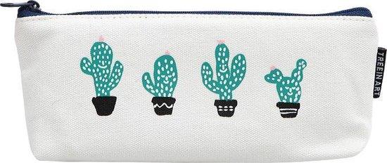 Back2school Cactus Pennenzak Minimalistisch Design - Etui - 4 cactusjes