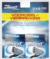 Gillette Mach3 Turbo - 16 stuks - Scheermesjes