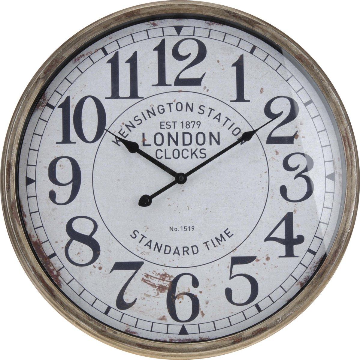Wandklok London Kensington Station - Metaal | Grote Muurklok 50 cm - London's Times