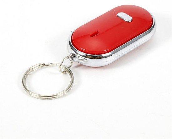 Je sleutels nooit meer kwijt met de Just Whistle Sleutelvinder - Fluiten en Klappen - Key Finder Sleutelhanger - Incl Batterijen - Rood