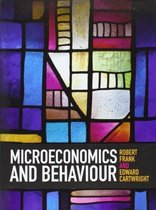 Boek cover Microeconomics and Behaviour van Robert Frank (Paperback)