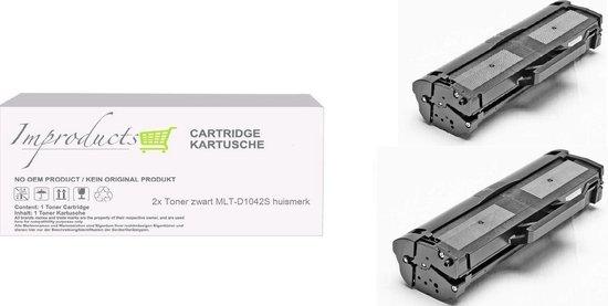 Improducts® Toner - Alternatief Samsung ML-1660 / MTL-D1042S XL inhoud  2x toner zwart