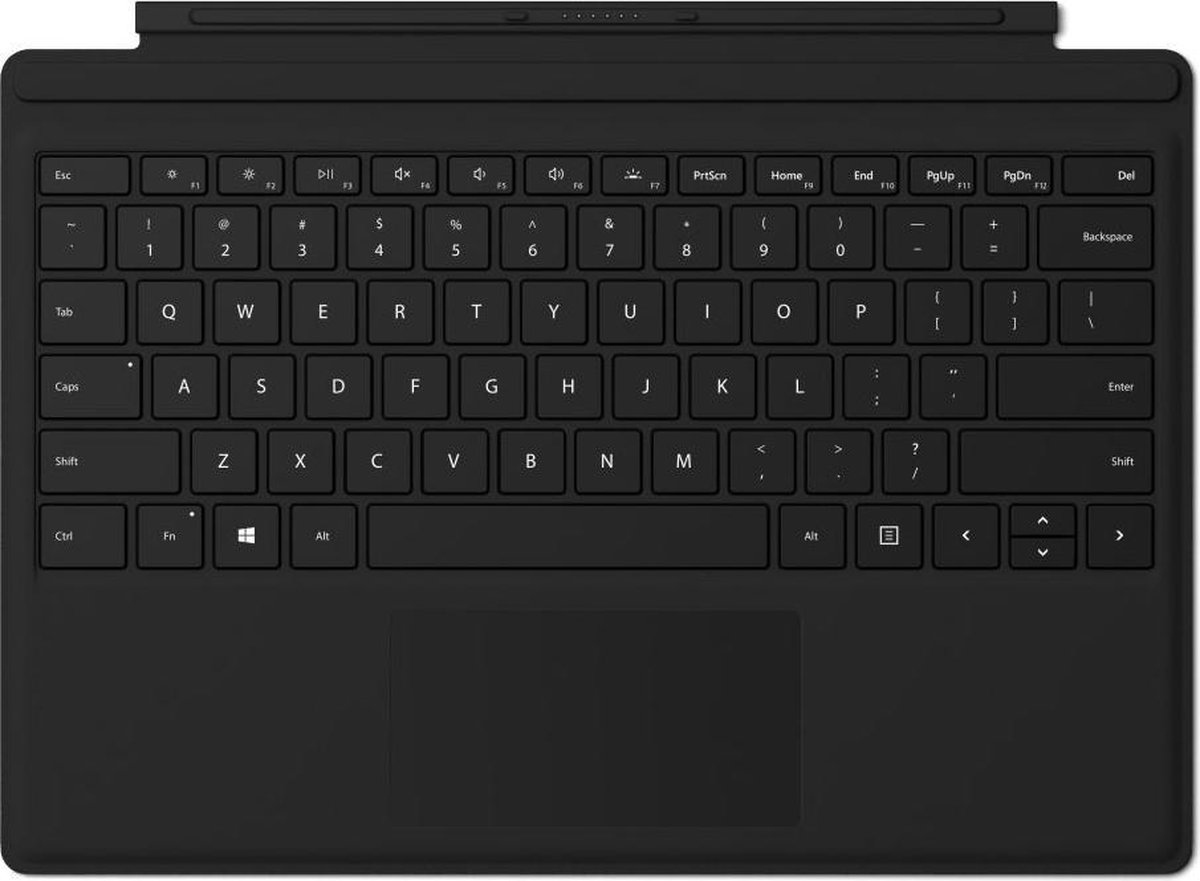 Surface Go Type Cover - Zwart - Microsoft
