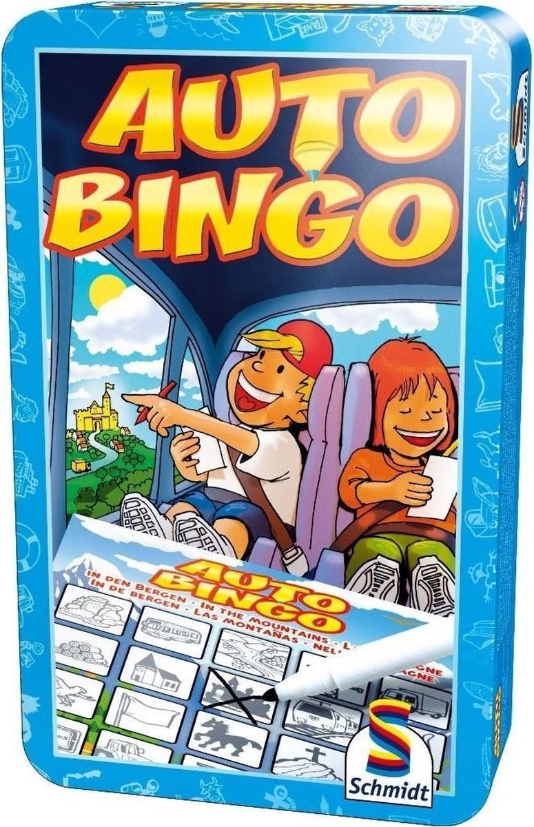 Auto-Bingo - Tin Box - Selecta Spellen