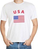 Wit t-shirt Amerika heren S