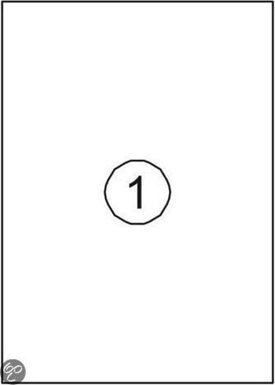 Benza Zelfklevende Etiketten op A4 Vel - 210 x 297 mm - 1 sticker per vel - 10 vel