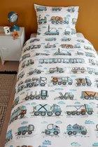 Beddinghouse Kids Letter Car - Dekbedovertrek - Katoen - 140x200/220 cm - Blauw