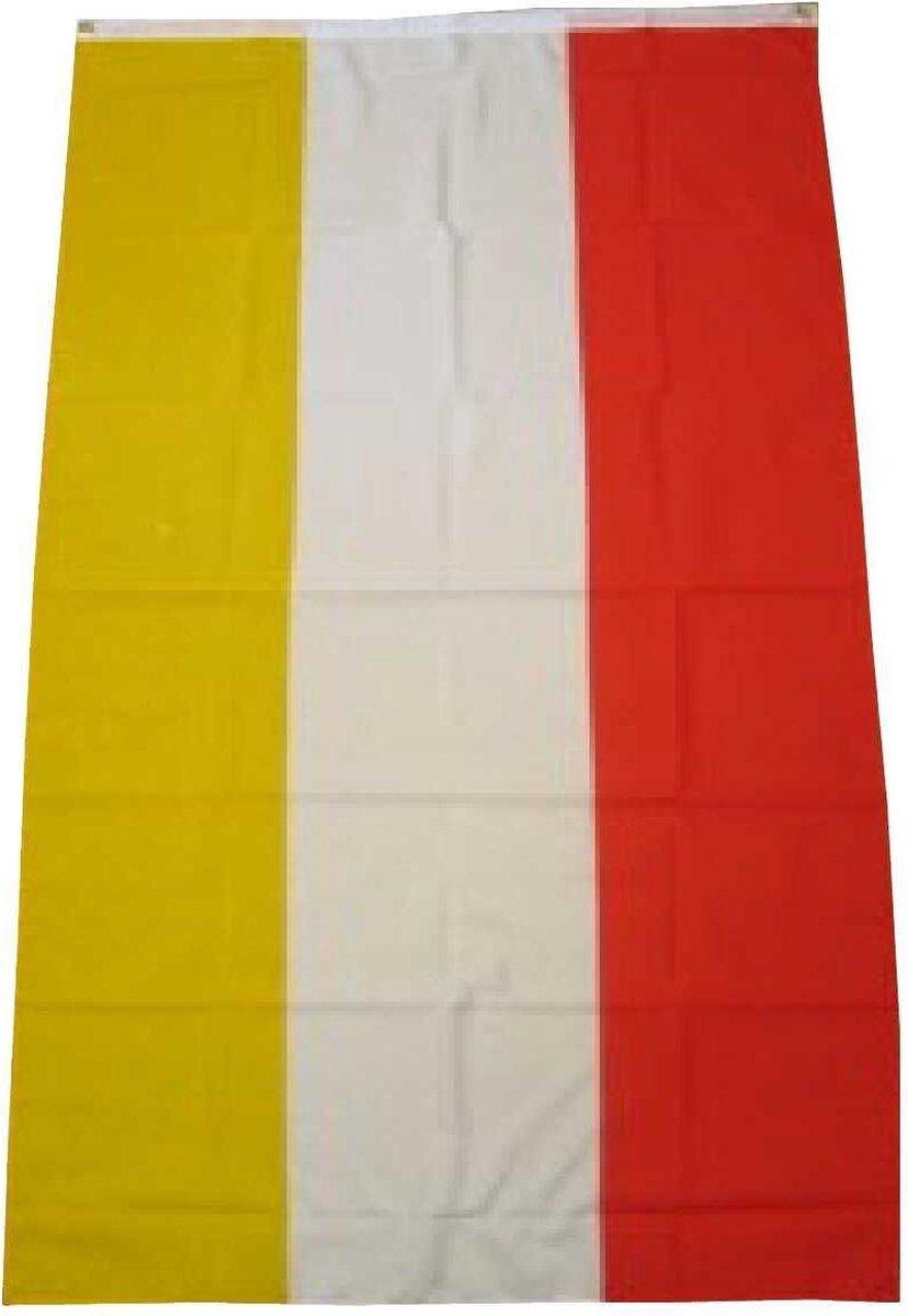 Brabant & Oeteldonk Kostuum   Vlag Rood Wit Geel Oeteldonk 90x150 Centimeter   False   Carnaval kostuum   Verkleedkleding - Luchas Promotions