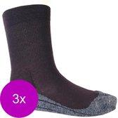 Stapp Unisex Walking Sok Zwart - Sokken - 3 x 39-42