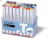Copic markers, assortiment 36 kleuren