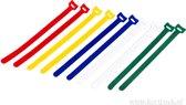 Velcro Kabelbinders 10 delige set 17mm x 310mm + Kortpack pen (098.0615)