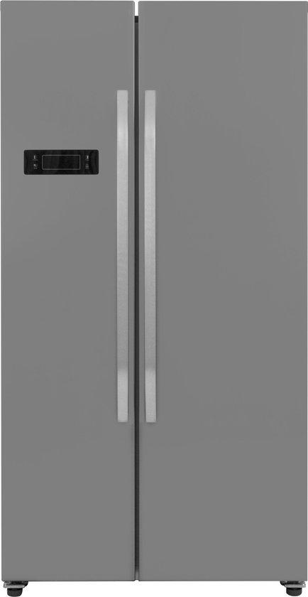 Koelkast: Exquisit SBS130-4A+INOXLOOK - Amerikaanse koelkast, van het merk Exquisit
