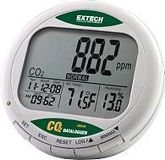Extech CO210: CO2 monitor voor luchtkwaliteit met geheugen