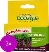 Ecostyle Ph-Bodemtest - Potgrond Turf - 3 x 8 stuks