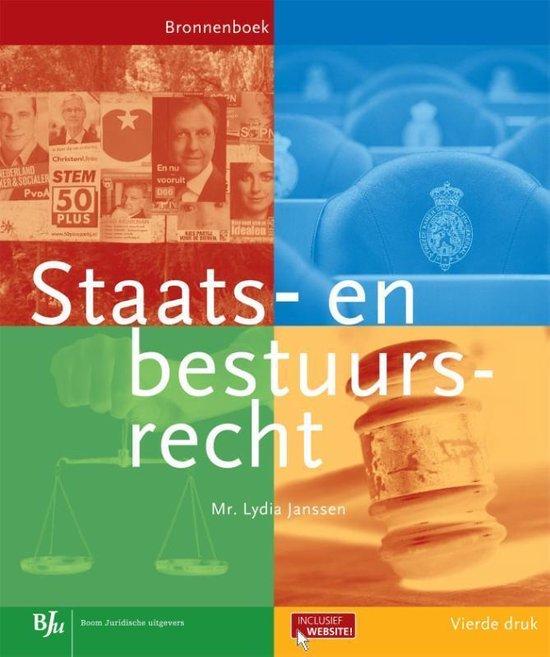 Staats en bestuursrecht - Lydia Janssen |